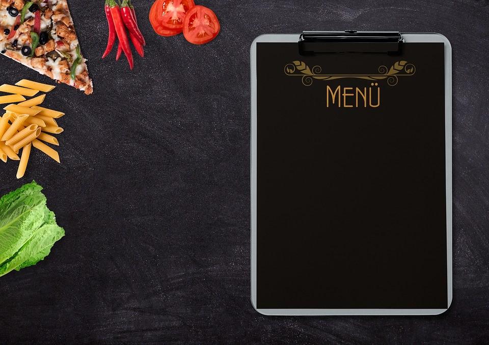 como elaborar o cardápio ou menu de seu restaurante