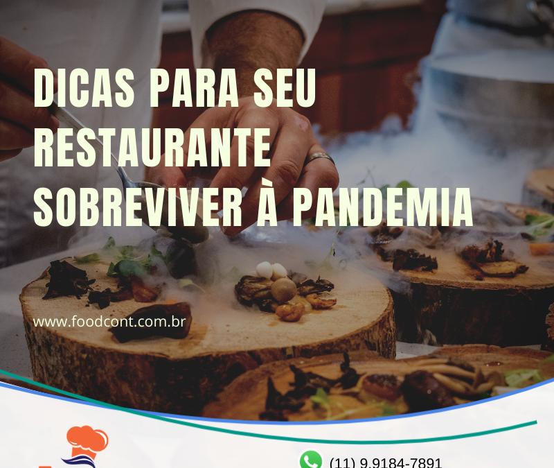 Dicas para seu restaurante sobreviver à pandemia
