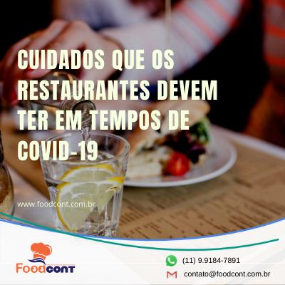 Cuidados que os restaurantes devem ter em tempos de Covid-19